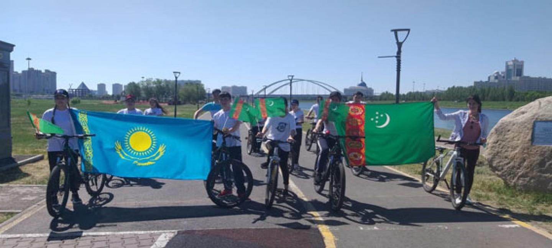 Всемирный день велосипеда: Посольство Туркменистана устроило велопробег в Нур-Султане